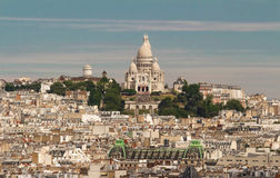 Cityscape of Paris with the Sacre Coeur basilica, Paris, France. Royalty Free Stock Photo
