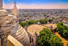 Cityscape of Paris from Sacre Coeur cathedral Royalty Free Stock Photography