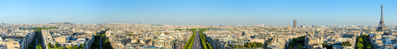 Cityscape of paris by the sunset Stock Photos