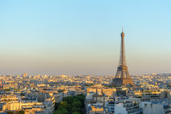 Cityscape of paris by the sunset Stock Images