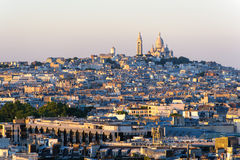 Cityscape of paris by the sunset Royalty Free Stock Photography