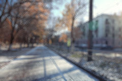 Cityscape park autumn Royalty Free Stock Image