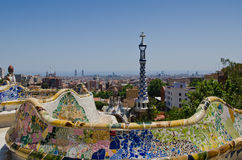 Cityscape of Park Guell Royalty Free Stock Photo