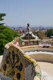 Cityscape of Park Guell Stock Images
