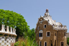 Cityscape of Park Guell Royalty Free Stock Images