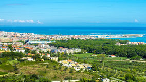 Cityscape of Pescara in Italy. View of the city of Pescara in Italy, with the Adriatic Sea in the background Royalty Free Stock Photography