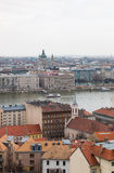 Cityscape of Pest side and Danube in Budapest Stock Image