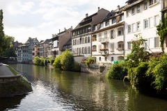 Cityscape in the Petite-France. Strasbourg, France Royalty Free Stock Photo