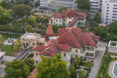 Cityscape and The Phya Thai Palace Stock Image