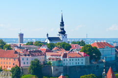 Cityscape picture taken in the Old Town of Tallinn Royalty Free Stock Image
