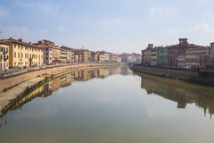 The cityscape of Pisa in Italy Royalty Free Stock Photography