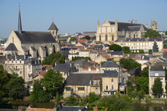 Cityscape of Poitiers, France Royalty Free Stock Images