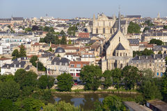 Cityscape of Poitiers, France stock photography