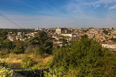 Cityscape of Poitiers at a summer day Royalty Free Stock Photo