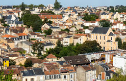 Cityscape of Poitiers at a summer day Royalty Free Stock Image