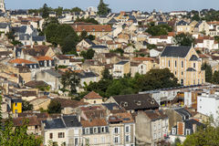 Cityscape of Poitiers at a summer day Stock Image