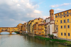 Cityscape with Ponte Vecchio of Florence Royalty Free Stock Image