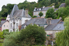 Cityscape of Pontrieux, medieval city in France Stock Photography