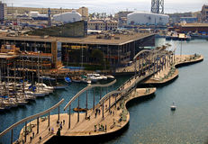 Cityscape of The Port of Barcelona Royalty Free Stock Image