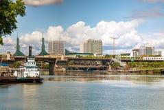 Cityscape of Portland, Oregon Stock Images