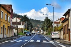 Cityscape of Porto do Son Spain Stock Image