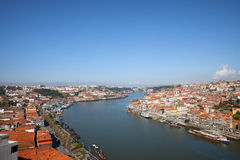 Cityscape of Porto and Vila Nova de Gaia Stock Images
