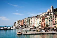 Cityscape Portovenere, La Spezia, Italië Royalty-vrije Stock Foto's