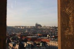 Cityscape Praag Stock Foto's