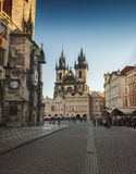 Cityscape in Prague in autumn, Czech Republic Royalty Free Stock Image