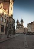 Cityscape in Prague in autumn, Czech Republic Royalty Free Stock Photos