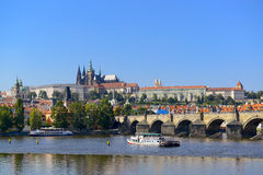 Cityscape of prague Stock Image