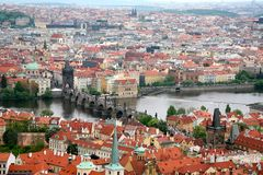 Cityscape Prague, Charles Bridge Stock Photos