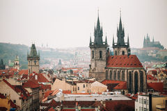 Cityscape of Prague, Czech Republic. Famous town Royalty Free Stock Images