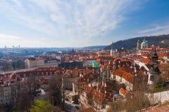 Cityscape of Prague, Czech Republic Stock Photo