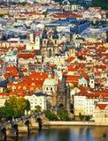 Cityscape of Prague Stock Photo