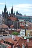 Cityscape of Prague Royalty Free Stock Image
