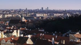 Cityscape of Prague. stock footage