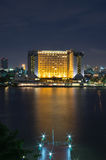 Cityscape Property Bangkok river side on twilight Royalty Free Stock Photography