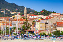 Cityscape of Propriano, Corsica island, France Royalty Free Stock Photos