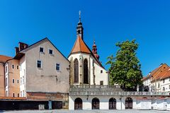 Cityscape of Ptuj royalty free stock photos