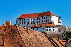 Cityscape of Ptuj stock images
