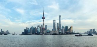 Cityscape of Pudong, Shanghai stock images