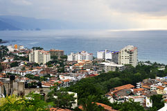 Cityscape in Puerto Vallarta, Mexico. Cityscape view from above with Pacific ocean in Puerto Vallarta, Mexico Stock Photography