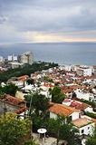 Cityscape in Puerto Vallarta, Mexico. Cityscape view from above with Pacific ocean in Puerto Vallarta, Mexico Royalty Free Stock Photography