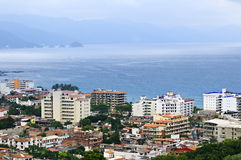 Cityscape in Puerto Vallarta, Mexico. Cityscape view from above with Pacific ocean in Puerto Vallarta, Mexico Stock Photo