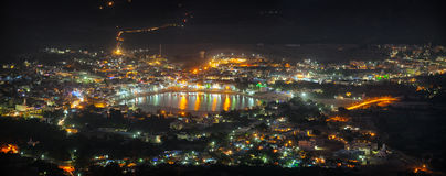 Cityscape of Pushkar, India at Night Royalty Free Stock Images