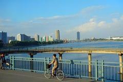 Cityscape Pyongyang, Nordkorea Arkivbilder