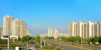 Cityscape, Pyongyang, North-Korea Royalty Free Stock Photo