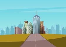 cityscape również zwrócić corel ilustracji wektora Zdjęcia Stock
