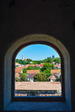 Cityscape, Racos citadel. Romania Royalty Free Stock Images